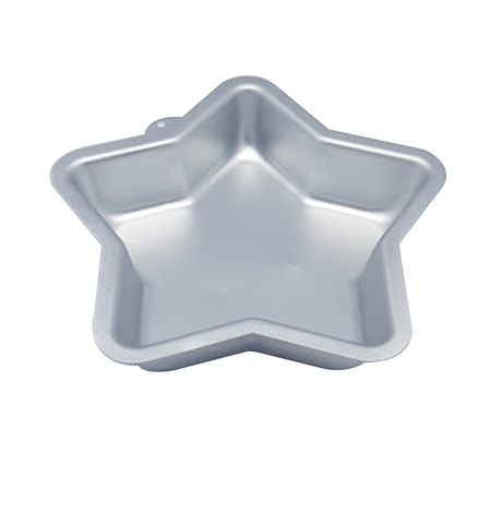 Bake Mould Star 1pc Silver
