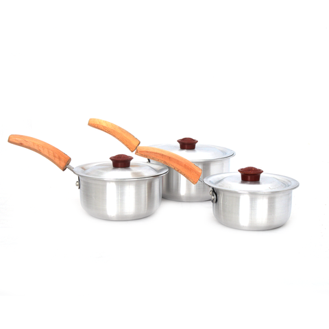 Saucepan metal finish Kingchef 3pc set