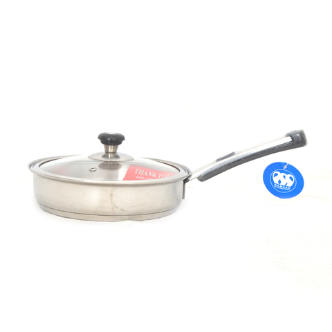Fry Pan Alpha 20 cm With Glass Lid S/S