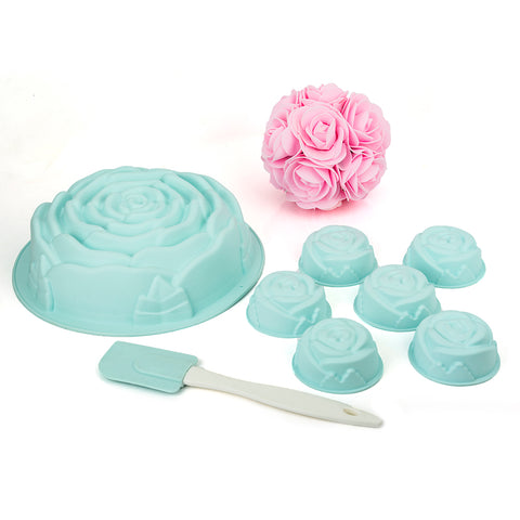 MYS004 Rose Mould Set Silicone