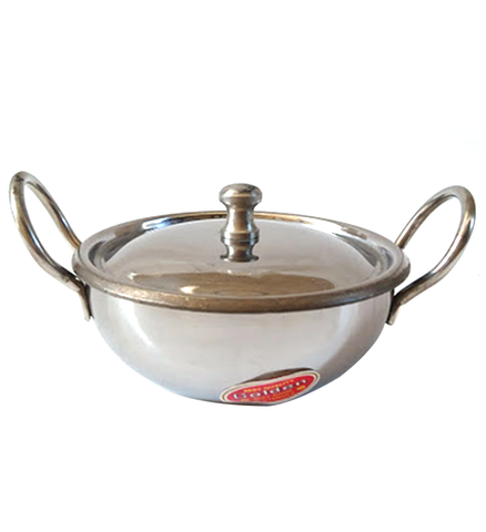 "Karahi s/s with Cover 5"" Stainless Steel"