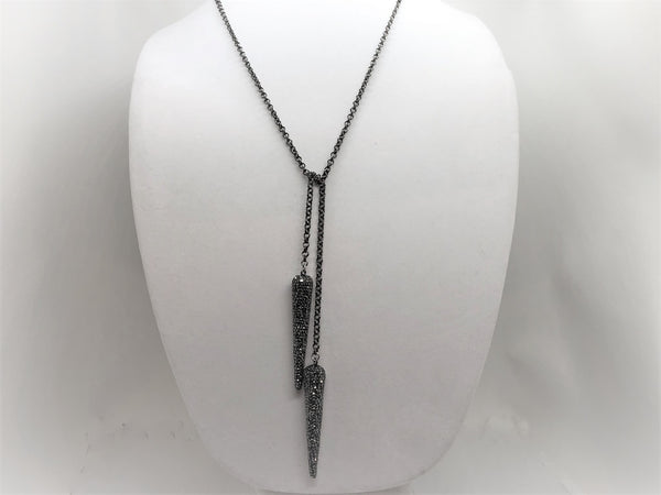 Dark Gray Bling Dagger Lariat bling-dagger-lariat Necklace