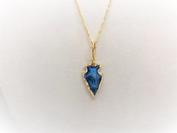Gold Arrowhead Pendant Necklace - Emmis Jewelry, Necklace, [product_color]