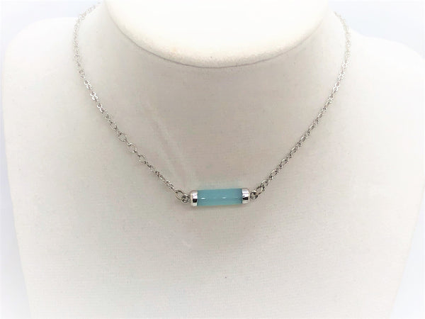 Short Gemstone Tube Necklaces - Emmis Jewelry,