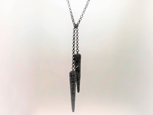 Light Gray bling-dagger-lariat Necklace Bling Dagger Lariat