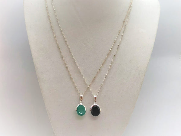Gemstone Station Necklace - Emmis Jewelry,