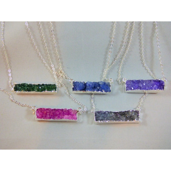 Gray silver-druzy-necklaces-1 Necklace Silver Druzy Necklaces