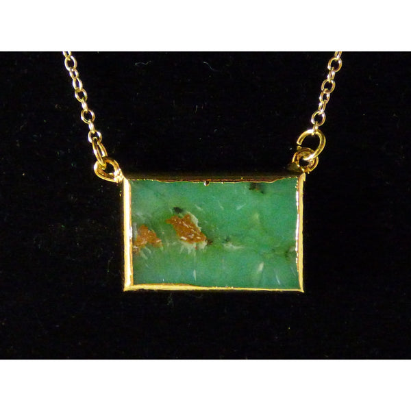 Sea Green African Jade Gold Necklace african-jade-gold-necklace Necklace