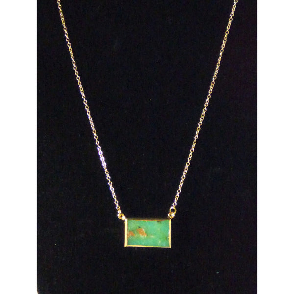 African Jade Gold Necklace - Emmis Jewelry,