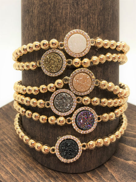 Stretch Druzy Bracelet - Emmis Jewelry,