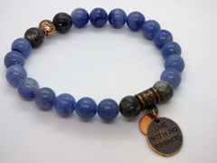 Midnight Blue Labradorite and Blue Quartz Single Stretch Bracelets labradorite-and-blue-quartz-single-stretch-bracelets Bracelet