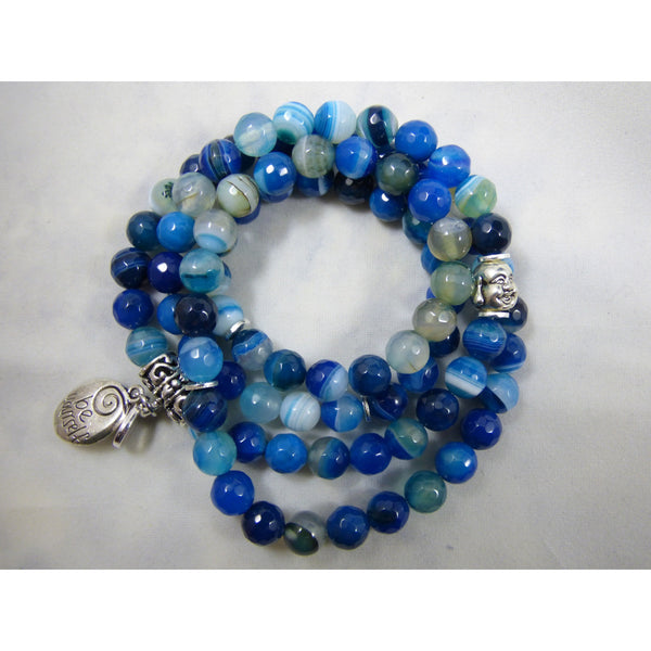 Midnight Blue blue-agate-wrap Necklace, Bracelet Blue Agate Wrap
