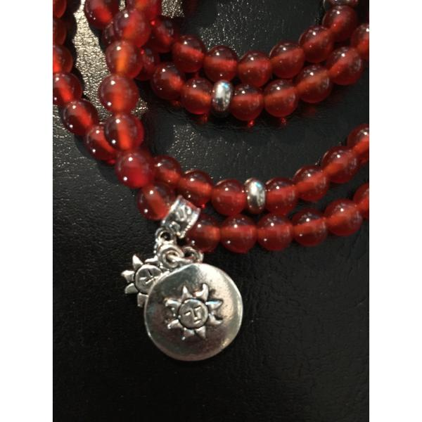 Dark Red carnelian-wrap Necklace, Bracelet Carnelian Wrap