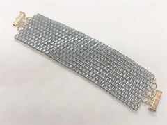 Glass Wall handsewn bracelet - silver
