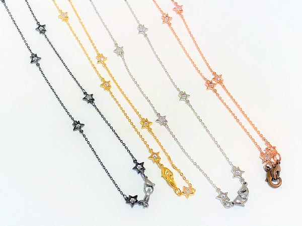 Gray Star Fall Mask Chains star-fall-mask-chains Mask Chain