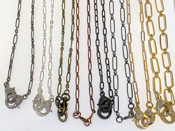 Beige Paper Clip Style Mask Chains paper-clip-style-mask-chains Mask Chain