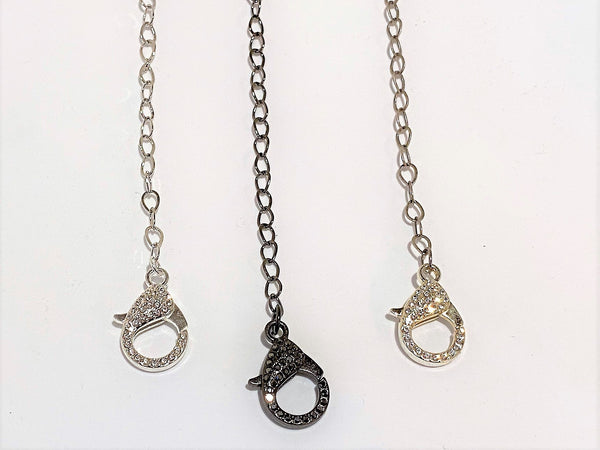 Dark Gray Teardrop Chain Mask Chains mask-chains Mask Chain