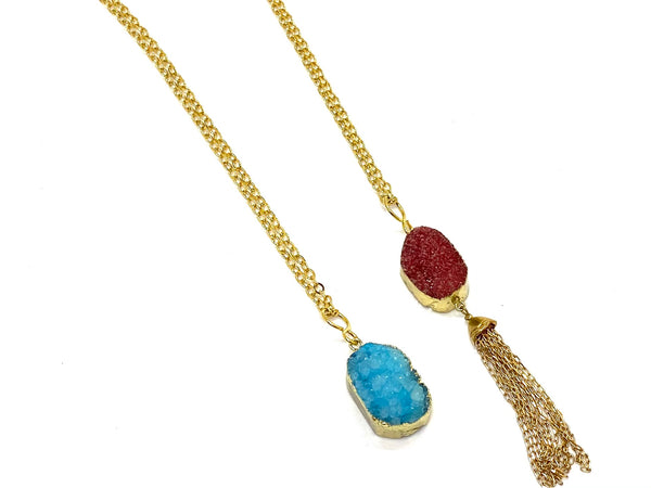 Druzy Pendant Necklace - Emmis Jewelry, Necklace, [product_color]