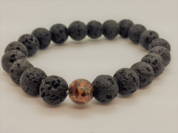 Chakra Single Lava Stone Bracelets - Emmis Jewelry, Bracelets, [product_color]