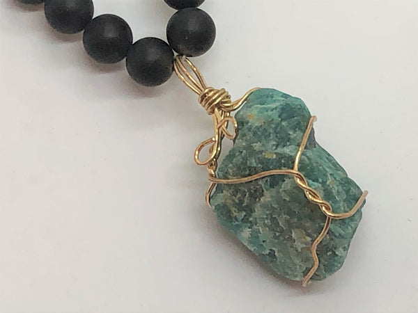 Rosy Brown Chunky Funky Fluorite Necklace chunky-funky-fluorite-necklace Necklace