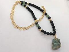 Tan Chunky Funky Fluorite Necklace chunky-funky-fluorite-necklace Necklace
