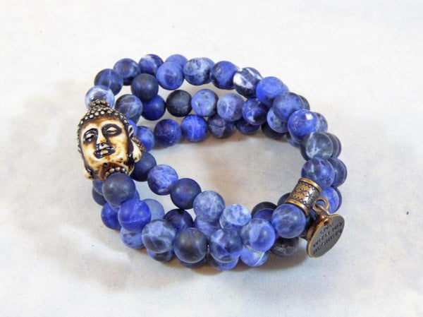 Matte Sodalite Wrap - Emmis Jewelry, Necklace, Bracelet, [product_color]
