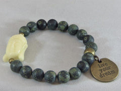 Dark Gray Matte Rhyolite Wrap matte-rhyolite-wrap Necklace, Bracelet