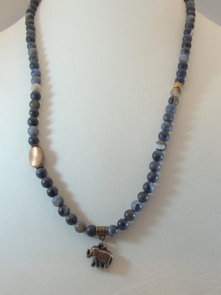 Matte Black Agate Wrap - Emmis Jewelry, Necklace, Bracelet, [product_color]