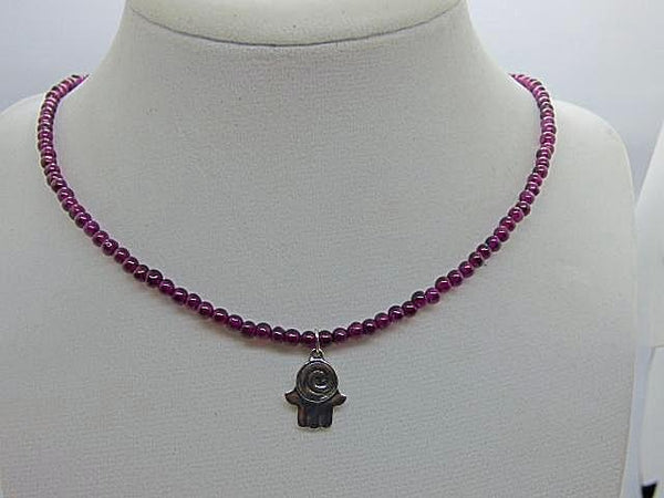Beaded Short Gemstone Necklaces - Emmis Jewelry, Necklace, [product_color]