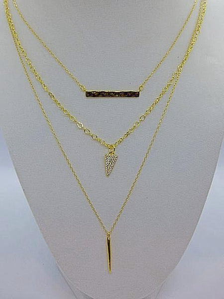 Dark Gray Layered Gold and Silver Chain Necklaces layered-gold-and-silver-chain-necklaces Necklace