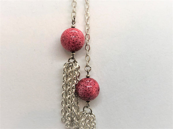 Red Coral Lariat - Emmis Jewelry,
