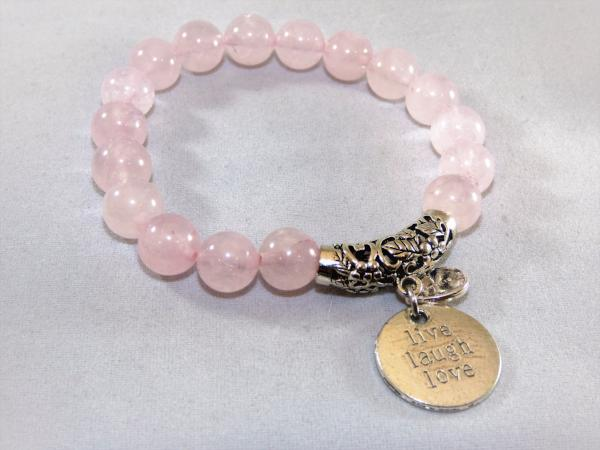Dark Gray rose-quartz-single-bracelet Bracelet Rose Quartz Single Bracelet