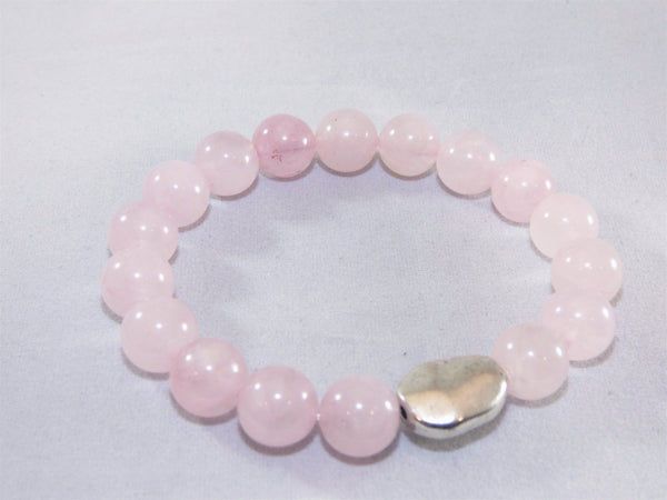 Gray rose-quartz-single-bracelet Bracelet Rose Quartz Single Bracelet