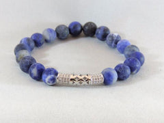 single stretch gemstone rose gold or silver plate tube bracelet sodalite agate turquoise labradorite