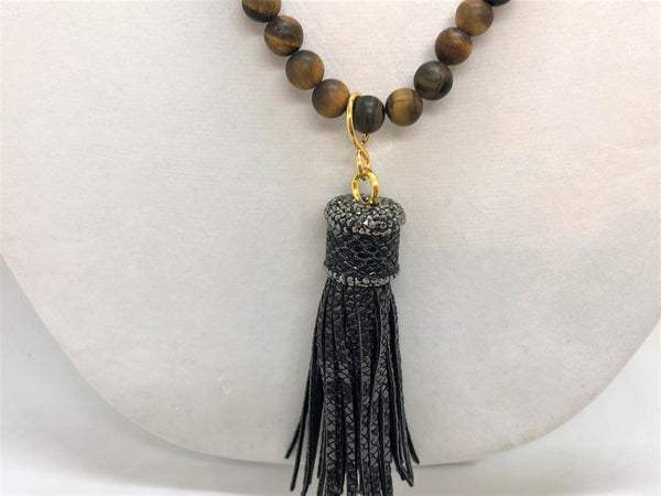 Tiger Eye Necklace with Interchangeable Pendants - Emmis Jewelry,