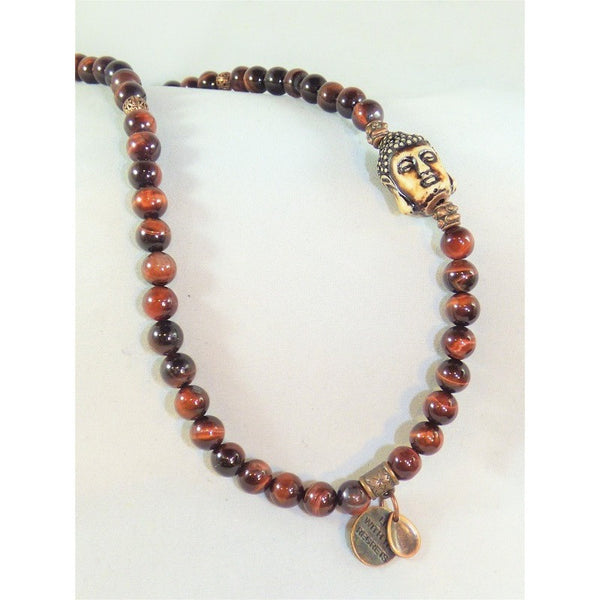 Beige Tiger Eye Wrap tiger-eye-wrap Necklace, Bracelet