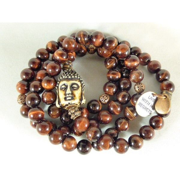 White Smoke Tiger Eye Wrap tiger-eye-wrap Necklace, Bracelet