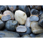 Double Hang Druzy - Emmis Jewelry - 1