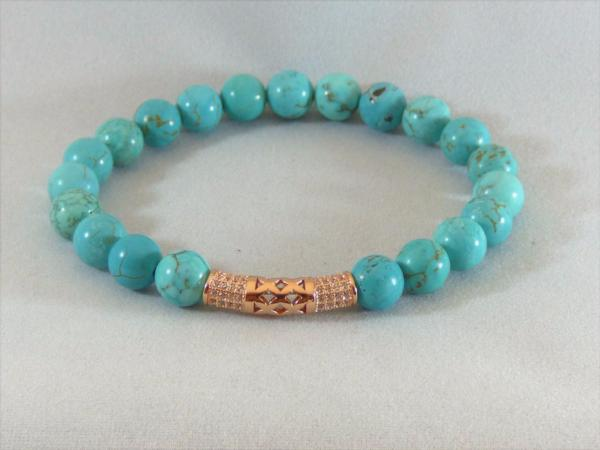 Turquoise Tube Bracelet - Emmis Jewelry, Bracelet, [product_color]