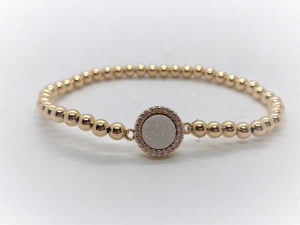 Stretch Druzy Bracelet - Emmis Jewelry, Bracelet, [product_color]