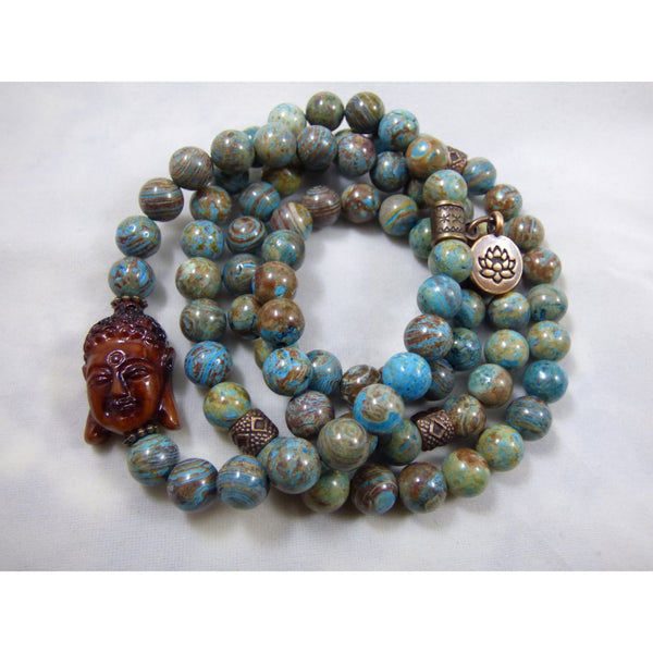 Dark Slate Gray blue-sky-jasper-wrap Necklace, Bracelet Blue Sky Jasper Wrap