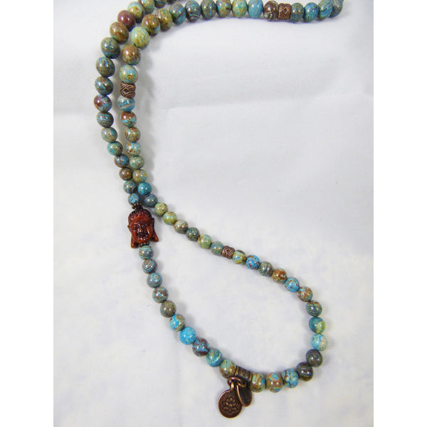 Light Gray blue-sky-jasper-wrap Necklace, Bracelet Blue Sky Jasper Wrap