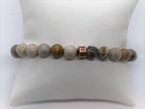Dark Gray Jasper Stretch Men's Bracelet jasper-stretch-bracelet Bracelet