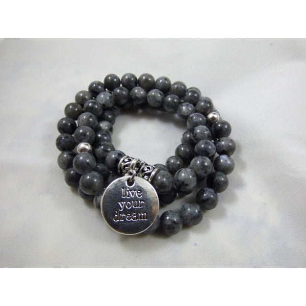 Dark Slate Gray labradorite-wrap Necklace, Bracelet Labradorite Wrap