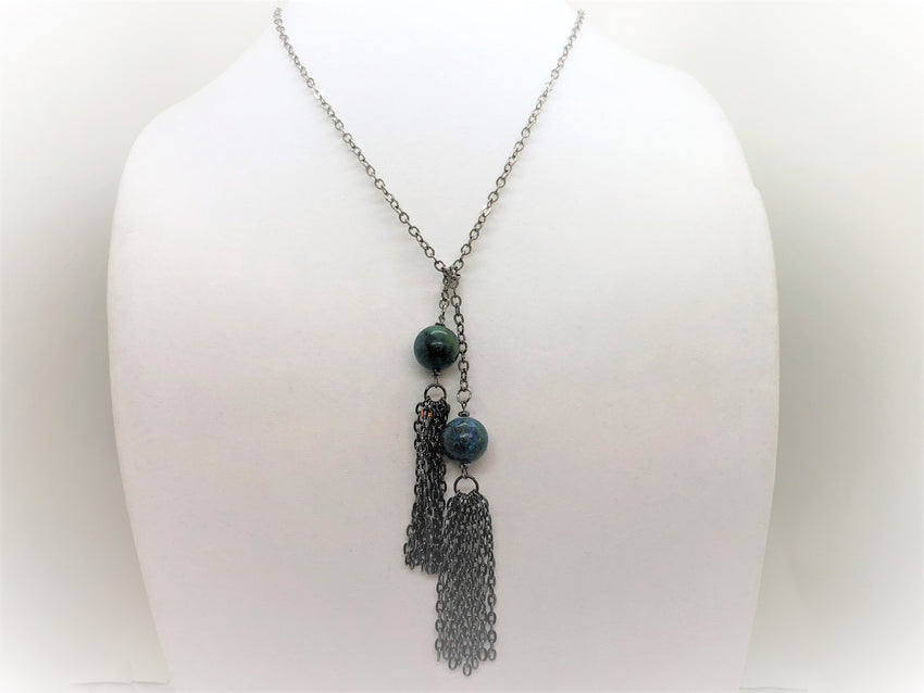 Turquoise Lariat - Emmis Jewelry, Necklace, [product_color]