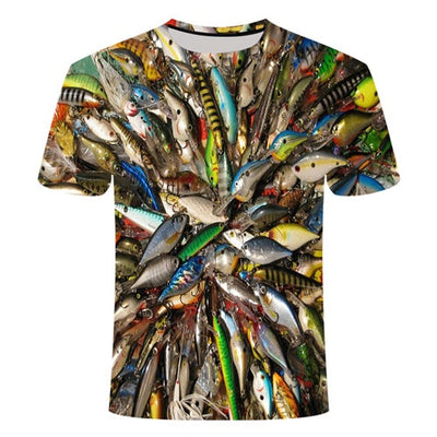 Fish 3 d T-shirt Modal fun Parker printing digital t-shirt