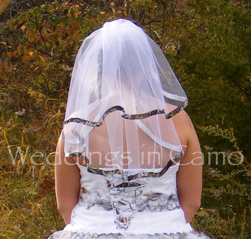 CAMO VEIL+CAMO Ribbon Veil+ Double Layer