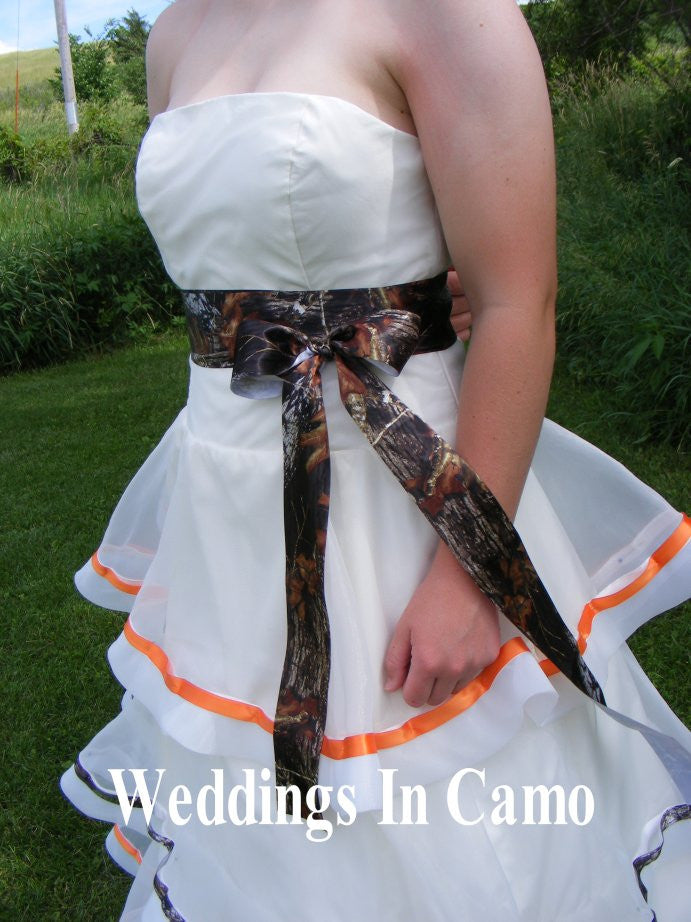mossy oak ribbon sash