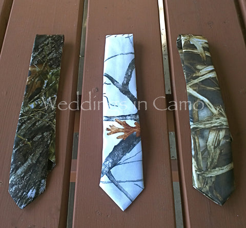 BOYS CAMO Necktie+ Child's Camo Necktie ALL COLORS Custom Made