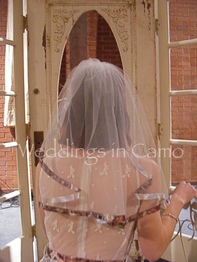 CAMO VEIL single layer+Camo ribbon